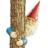 Bits and Pieces - Gartenzwerg Baum Hugger - Garten Peeker Yard Art - Skulptur Baum Skulptur Garten Dekoration