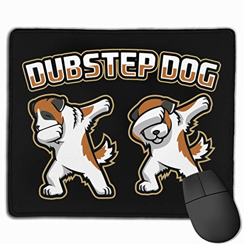 Mouse Pad Dubstep Dog Mascot Logo Non-Slip Rubber Base Upset Waterproof Mouse Mat for Laptop, Computer, PC, Keyboard-11.79 X 9.82 X 0.12 Inch