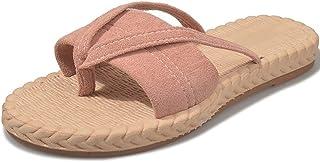 Women's Non-Slip Flip-Flops, Lightweight Toe Post Platform Slippers, Comfortable Summer Sandals for Beach Holidays, Pool, Shower Size 35-40 (Black)