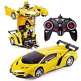 Transformers Toys 2 in 1 Fernbedienung Transformator Auto RC Auto für Kinder Deformation Roboter Auto Spielzeug für Jungen Alter 3-12 Transformator RC Fahrzeug Spielzeug