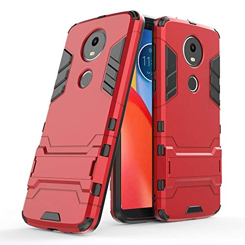 Funda para Motorola Moto E5 Plus (6 Pulgadas) 2 en 1 Híbrida Rugged Armor Case Choque Absorción…