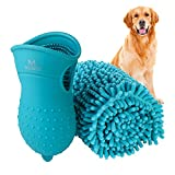 PERFECT FOR YOUR BELOVED BUDDY - Dogs love to have fun and get themselves dirty. Show your love for your buddy with our dog paw washer that helps you clean their paws thoroughly! The long soft brush cleans all over their paws and feet. Top it off wit...
