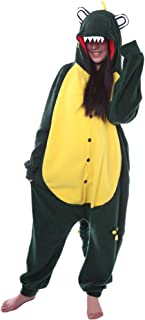 Unisex Animal Pijama Ropa de Dormir Cosplay Kigurumi Onesie Cocodrilo Verde Disfraz para Adulto Entre 1,40 y 1,87 m