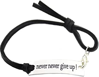 You are Braver than you believe Charming Little Inspirational Leather Bracelet Brown