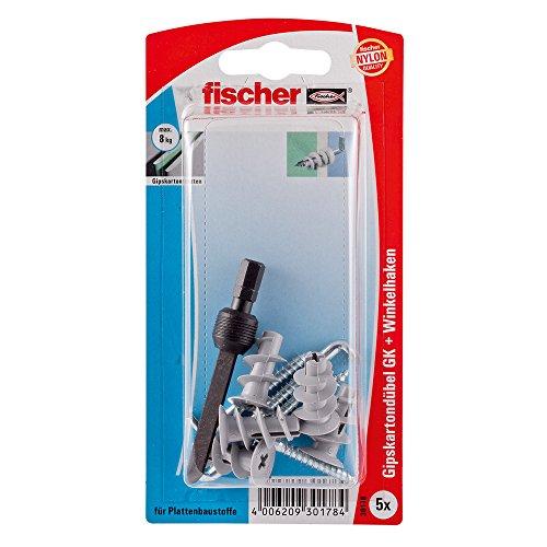5 Stück Gipskartondübel GK WH K mit Winkelhaken | Fischer