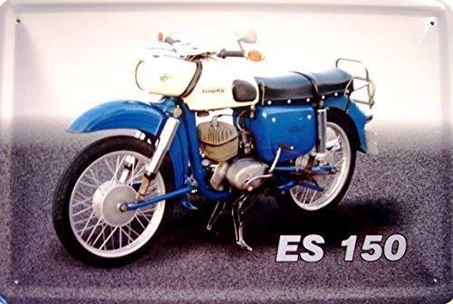 MZ ES 150 Trophy Motorrad DDR Blechschild Schild Blech Metall Metal Tin Sign 20 x 30 cm