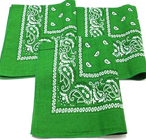 M.H.I. Bandana de perro para el cuello de cachemira 100% algodón Bandanas de doble cara – Cualquier mascota (verde)