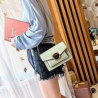 林ファッションカジュアルチェーンシングルショルダーバッグレディーススモールスクエアバッグメッセンジャーバッグハンドバッグ(ブラック) Chenhuis (Color : Green)