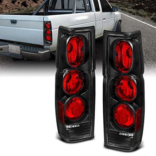 AmeriLite Black Replacement Brake Tail Lights Set for Hardbody D21 - Passenger and Driver Side