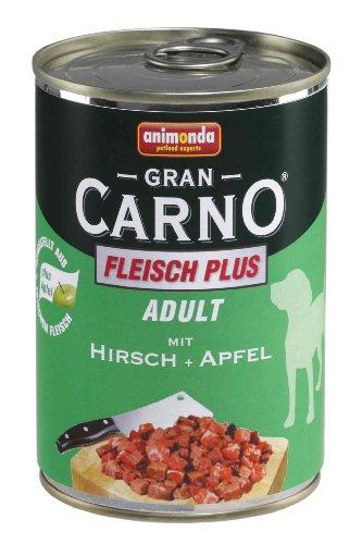 Animonda Gran Carno Hundefutter Adult Rind + Hirsch mit Apfel, 6er Pack (6 x 400 g)