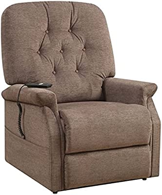 Amazon Com Lifestyle Power Recliner Fabric Taupe