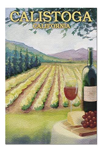 Rompecabezas Puzzle Rompecabezas de Madera Calistoga California - País del vino 75.5X50.3CM