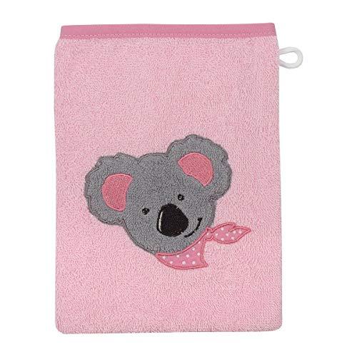 Wörner Gant de toilette 15 x 21 cm GOTS drap de bain bébé, rose