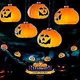 Avoalre Calabaza Luces de Cadena 20 LED 3.5M Luces Decoración de Halloween con Modo 8 Alambre de Cobre Impermeable Luces de Calabaza para Halloween, Fiestas Temáticas, Carnaval, Blanco Cálido