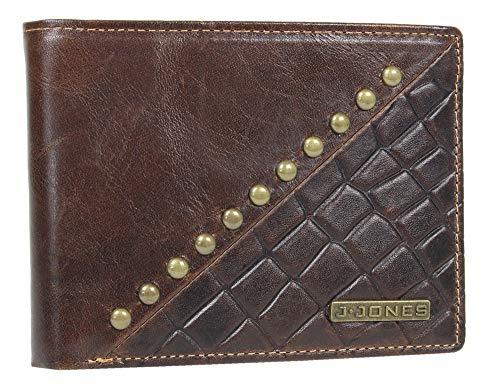 Heren designer bankbiljet beurs creditcards portemonnee met RFID-bescherming leer zwart liggend formaat