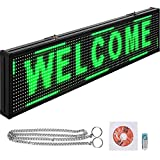 VEVOR Led Sign 38 x 6.5 Inch Digital Sign 96 x 16 HD Resolution Green P10 Indoor Led Message Board Digital Display Board Electronic Scrolling Led Sign Programmable by PC & Wi-Fi & USB for Advertising