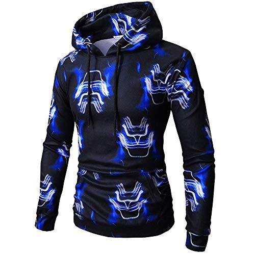 BAGFP Sweatshirt Männer Digitaldruck Mit Kapuze Lässig Pullover Hoodie Slim Fashion Sport Kapuzenjacke