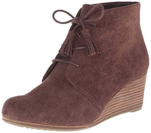 Dr. Scholl's Shoes womens Dakota Boot, Dark Brown Microfiber Suede, 7.5 US