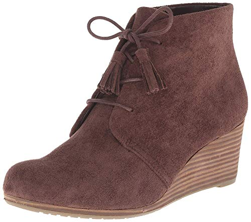 Dr. Scholl's Shoes womens Dakota Boot, Dark Brown Microfiber Suede, 8.5 US