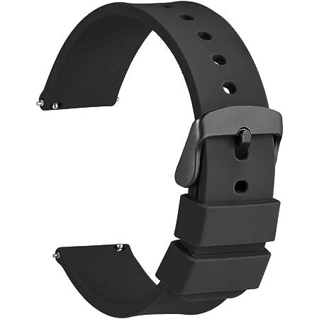 WOCCI 14mm 18mm 20mm 22mm 24mm Orologi Cinturino in Silicone Braccialetto di Ricambio 13 colori a Sgancio Rapido