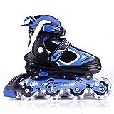 MammyGol Adjustable Inline Skates for Kids with Light up Wheels,Flashing...