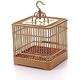 TeFuAnAn 鳥かご 鳥ケージ バードパレス オウムの巣 鳥籠 鳥 折りたたみ式 小動物用ハウス 餌入り 水入り 優れた通気性 取り外し可能 キャリアオウム 正方形かご 小型鳥用