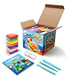 Sago Brothers Modelliermasse Lufttrocknend, Knete für Kinder in 24 Farben, Magische Lufttrocknende...
