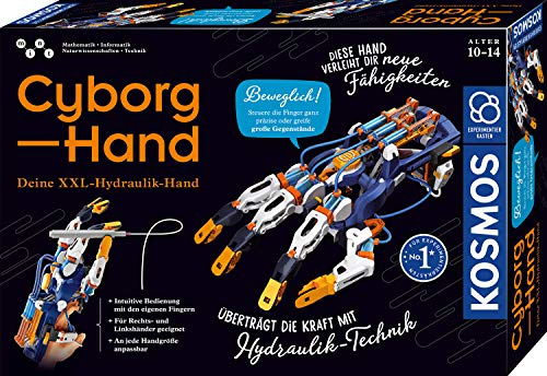 Kosmos 620844 Cyborg-Hand - hydraulische gesteuerte Roboter-Hand größenverstellbar auch für Linkshänder geeignet, Experimentierkasten