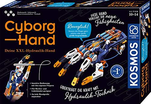 Kosmos Cyborg-Hand - hydraulische gesteuerte Roboter-Hand größenverstellbar auch für Linkshänder geeignet, Experimentierkasten