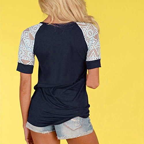 Women's Tee,Neartime Summer Blouse Thin Casual Tops Lace T-Shirt Hot Sale! (M) Photo #4