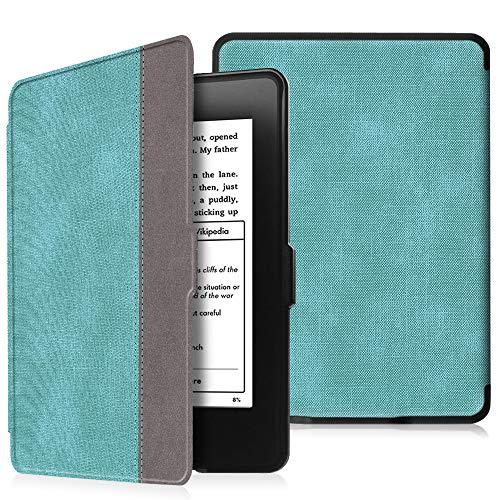 FINTIE SlimShell Funda para Kindle Paperwhite - La Más Delgada y Ligera Carcasa de Cuero Sintético con Función de Auto-Reposo/Activación (No se Adapta a 10.ª generación 2018), Verde Menta