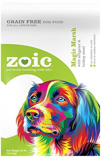 Wild Calling 25 Lb Zoic Magic Marsh Alligator & Turkey Dog Food, Medium