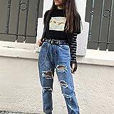 hjkg Camiseta T-Shirt,Harajuku Hands Pattern Rock Camiseta De Mujer Algodón Cómodo Transpirable Moda Cool Casual Verano Cuello Redondo Manga Corta Negro Camisetas Chica Femenina, XL
