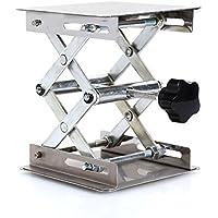 """4 x 4 """"científico Plataforma elevadora de laboratorio de acero inoxidable, Tijera Gato Levantador Estante de elevación de laboratorio 100 * 100 mm"""