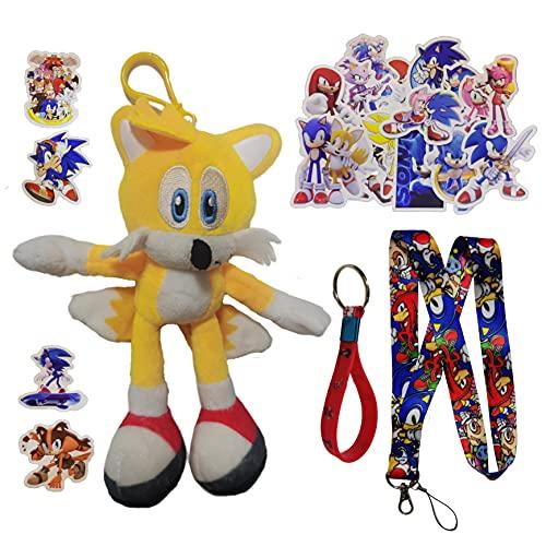 Colgante de Sonic El nuevo ratón supersónico sonic2 super Sonic de peluche de juguete para niños Tarsnak hedgehog doll anime