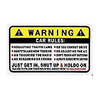 MAODING 1ピースPVCステッカー車のステッカー車の安全規則ステッカー10.2CM * 5.7CMカースタイリング車の装飾エクステリアアクセサリーを警告