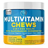 Ready Pet Go! Multivitamin for Dogs | Glucosamine for Strong Joints | Vitamins for Skin and Coat, Hip and Joint Dog Health | Supplement for Dogs | 90 Dog Chews