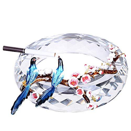 CESULIS Gran Capacidad Creativa Esmalte Cenicero Inicio Cristal Cenicero Cenicero Decoración Grande Regalo 18X4.5cm Regalos