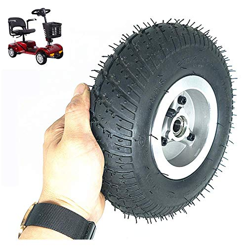 YLLN Neumáticos para scooter eléctrico, ruedas de 9 pulgadas 2.80/2.50-4, neumáticos antideslizantes resistentes al desgaste, llantas de aleación de aluminio, diámetro interior de 15 mm, adecuado para