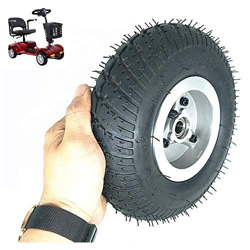 GOHHK Elektroroller-Reifen Langlebige Räder, 9-Zoll-2,80/2,50-4-Räder, rutschfeste, verschleißfeste Reifen, Aluminiumlegierungsräder, 15 mm Innendurchmesser, geeignet für ältere Motorroller/Dreiräder