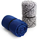 Oceas Outdoor Sherpa Fleece Ultra Plush Waterproof Blanket - Great for Camping, Outdoor Festival, Stadium and Picnic Use -...