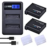 PowerTrust 2 Pack AHDBT-401 Battery and LCD Dual USB Charger for Gopro Hero 4 Batteries Go Pro Hero4 AHDBT 401 Action Camera Accessorie