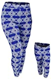 Unique Baby Girls Hanukkah Mommy and Me Matching Star of David Leggings (3t) Blue