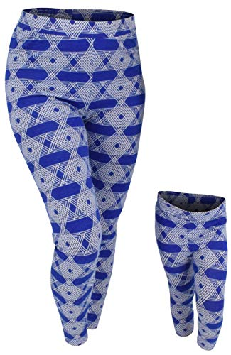 Unique Baby Womens Hanukkah Mommy and Me Matching Star of David Leggings (XL) Blue