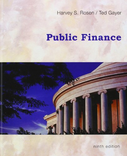 Compare Textbook Prices for Public Finance 9th Edition ISBN 9780073511351 by Harvey S. Rosen,Ted Gayer