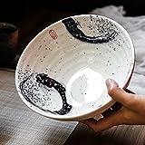 Gweat Tazón De Fuente De Sopa De Ramen De Ramen De La Personalidad Del Tazón De Fuente De Ensalada Creativo Del Estilo Japonés (Color : 1)