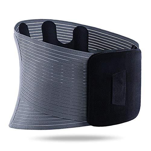Lordosenstütze Brace LWS-Stützgurt Unisexjustierbares Elastische Bandscheibenvorfall Wirbelsäule Taille Zurück Erleichterung Schmerz LB (Color : Black, Size : S)