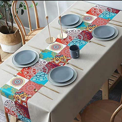 sans_marque Paño de mesa, paño de mesa de color sólido paño de mesa, a prueba de polvo y a prueba de encogimiento, utilizado para la decoración de mesa de picnic de la cocina 120* 170cm