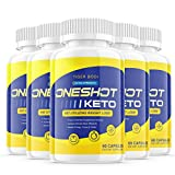(5 Pack) One Shot Keto Pills Keto Oneshot Pills 1 Shot Keto Tablets Extra Strength - Advanced Keto Diet Supplement (300 Capsules)