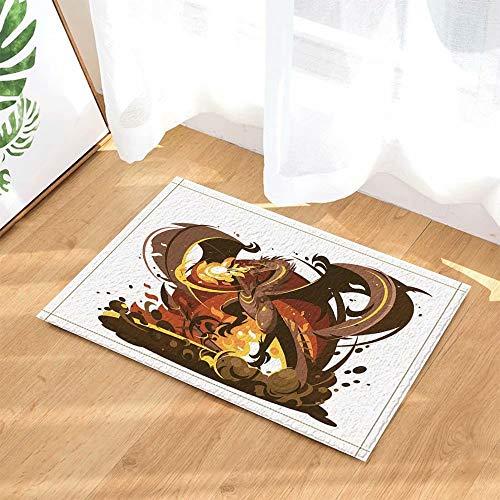 Monster decoratie spel cartoon draak spuitend vuur Kinderbadkamer tapijt toiletdeur mat woonkamer 50X80CM badkameraccessoires